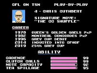 Chris Cuthbert Tecmo Bowl